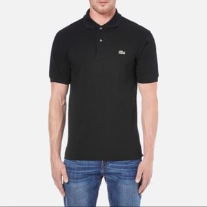Lacoste Men's black solid polo size 5/ large